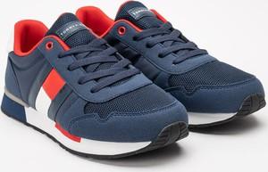 Granatowe buty sportowe dziecięce Tommy Hilfiger dla chłopców