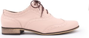Zapato jazzówki - skóra naturalna - model 246 - kolor różowy