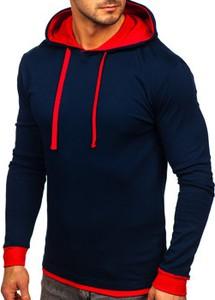 Granatowa bluza Denley w młodzieżowym stylu z bawełny