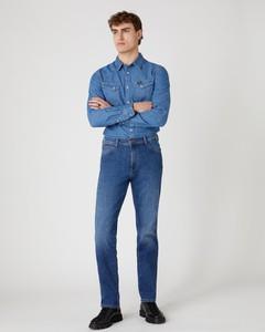 Koszula Wrangler z długim rękawem z klasycznym kołnierzykiem z jeansu