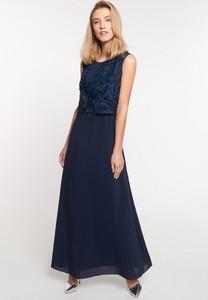 Granatowa sukienka QUIOSQUE maxi