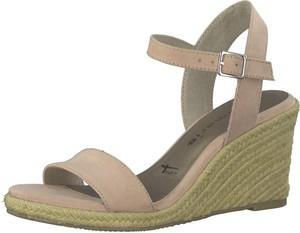 Sandały Tamaris na platformie w stylu casual na średnim obcasie