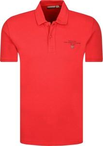 Czerwony t-shirt Napapijri w stylu casual