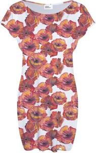 Sukienka COLOUR PLEASURE z krótkim rękawem midi w stylu casual