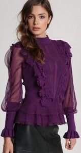 Fioletowa bluzka Renee w stylu casual