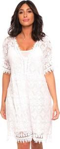 Sukienka Plus Size Fashion z okrągłym dekoltem prosta mini
