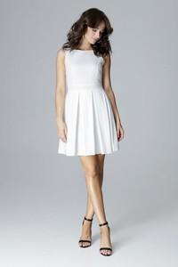 ddba3c6453 elegancka sukienka ecru. - stylowo i modnie z Allani