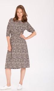 Sukienka volcano.pl z długim rękawem w stylu casual z okrągłym dekoltem