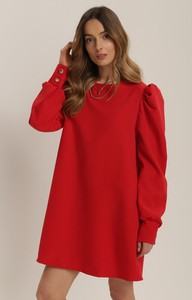 Czerwona sukienka Renee w stylu casual