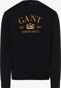 Niebieski sweter Gant z okrągłym dekoltem