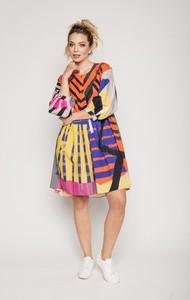 Sukienka Lavard w stylu casual z długim rękawem z bawełny