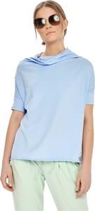 Niebieska bluzka By Insomnia z golfem
