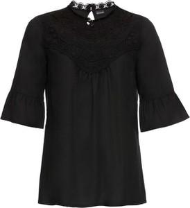 Czarna bluzka bonprix BODYFLIRT z długim rękawem