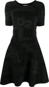 Sukienka Dsquared2 z krótkim rękawem mini