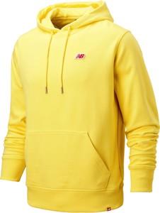 Żółta bluza New Balance w sportowym stylu z bawełny