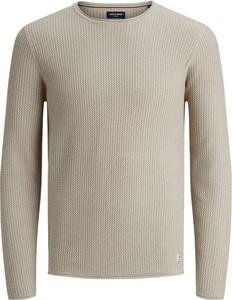 Sweter Jack & Jones z okrągłym dekoltem w stylu casual z wełny