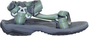 Zielone buty letnie męskie Teva na rzepy