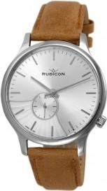ZEGAREK MĘSKI RUBICON RNCE07 Srebrny | Brązowy