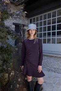 Sukienka Rodier z długim rękawem z wełny