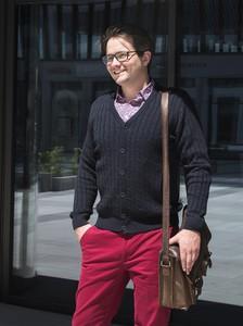 Sweter M. Lasota w stylu casual