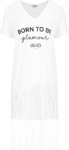 Sukienka Liu-Jo z krótkim rękawem mini prosta