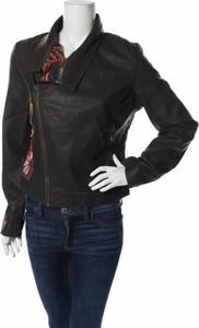 Czarna kurtka Desigual ze skóry w stylu casual krótka