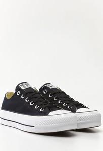 Czarne trampki Converse niskie z płaską podeszwą