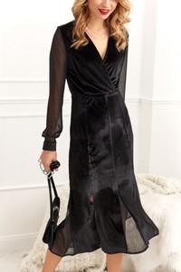 Sukienka Fasardi z długim rękawem