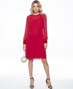 Sukienka L'AF midi z długim rękawem