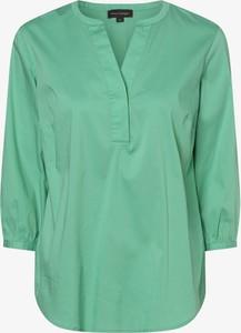 Zielona bluzka Franco Callegari z dekoltem w kształcie litery v