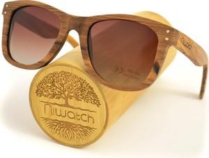Drewniane okulary przeciwsłoneczne Niwatch Gemini Brown