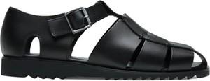 Czarne buty letnie męskie Paraboot z klamrami