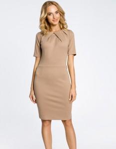 Sukienka MOE z krótkim rękawem ołówkowa