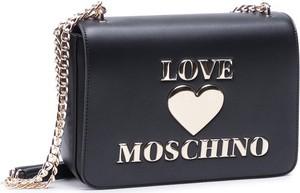 Czarna torebka Love Moschino na ramię ze skóry
