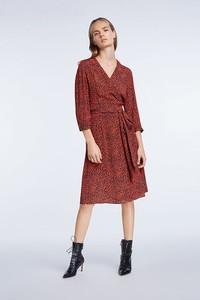 Sukienka Set z długim rękawem midi z dekoltem w kształcie litery v