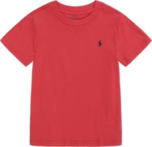 Czerwona koszulka dziecięca POLO RALPH LAUREN z bawełny z krótkim rękawem