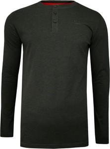 Czarna koszulka z długim rękawem Just yuppi z długim rękawem z tkaniny