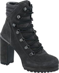 Czarne botki DKNY ze skóry