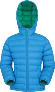 Niebieska kurtka dziecięca Mountain Warehouse z tkaniny
