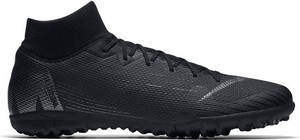 Czarne buty sportowe Nike ze skóry sznurowane
