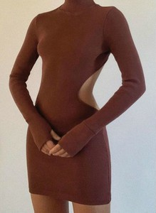 Sukienka Cikelly z golfem z długim rękawem mini