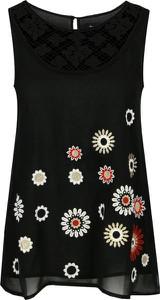 Czarna bluzka Desigual z okrągłym dekoltem bez rękawów