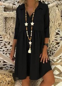 Czarna sukienka Cikelly mini w stylu casual
