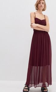 Czerwona sukienka House maxi
