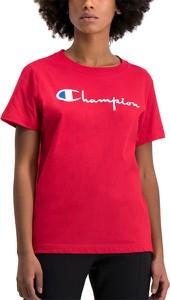 Bluzka Champion z okrągłym dekoltem w sportowym stylu z krótkim rękawem