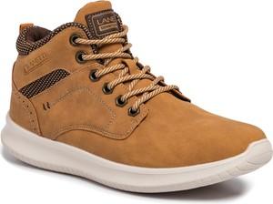 Brązowe buty sportowe Lanetti sznurowane