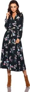 Sukienka Lemoniade z dekoltem w kształcie litery v z długim rękawem midi