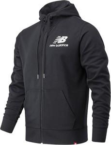 Czarna bluza New Balance w sportowym stylu z bawełny