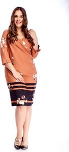 Sukienka TAGLESS z dekoltem w kształcie litery v midi