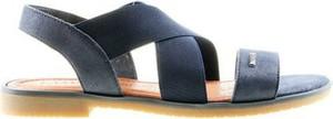 Granatowe sandały Lasocki w stylu casual